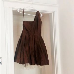 Silk cocktail dress hand made in France